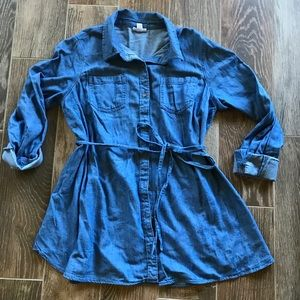 Isabel Maternity Chambray button up top small
